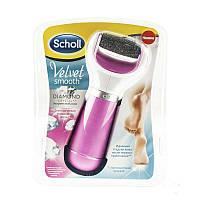Электрическая роликовая пилка Scholl для удаления загрубевшей кожи, цвет розовый