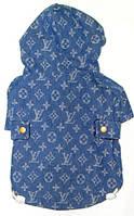 """Куртка джинсовая """"ЛВ"""" с капюшоном, размер М(27/45см) утепленная"""
