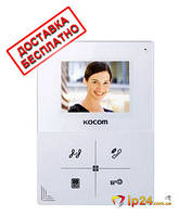 Видеодомофон KCV-401EV (white) в белом цвете