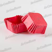 Формочки для конфет, квадратные, красные (40x40x22 мм), упаковка - 1500 шт.