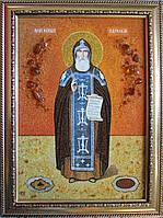 Икона из янтаря Преподобный Кукша Одесский