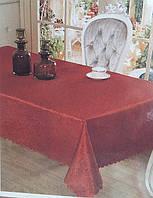 """Красивая скатерть для кухни """"Роза"""", атласная, бордовая, 140х180 см., 125/105 (цена за 1 шт. + 20 гр.)"""