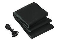 Кожаная оплетка чехол на руль размер L (39-41 см) кожа VSF-68/1 черная/обшиваемая/1 шов (авто автомобиля)