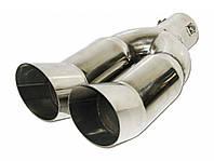 """Насадка наконечник глушителя 0007 d-2,25"""" нержавейка тюнинг на выхлопную трубу глушитель универсальная, фото 1"""