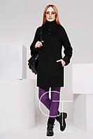 Женское пальто PL-8587 полуприлегающего силуэта