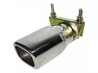 Насадка наконечник глушителя 0517 (40-55мм) нержавейка тюнинг на выхлопную трубу глушитель универсальная