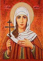 Икона из янтаря Святая Лариса