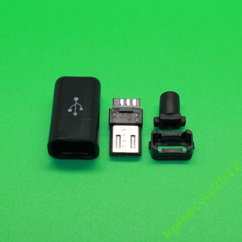 Штекер  micro USB разборный, 5pin.