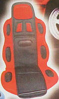 Накидка на сидение F-19002 RD/BK высокая красн.+че
