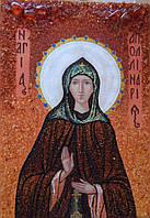 Иконы из янтаря Святая Аполлинария (Полина)