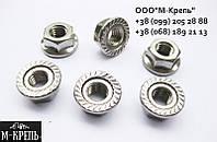 Гайка М6 с прессшайбой DIN 6923 нержавеющая