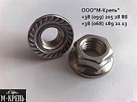 Гайка М10 с фланцем DIN 6923, ГОСТ Р 50592-93 из нержавейки