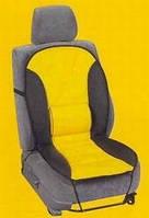 Накидка на сидение F-14056 С кож. зам. черн.+желта