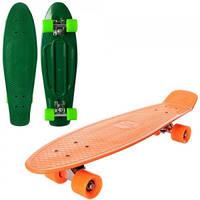 Скейт пенни, 66-18,5 см, алюминиевая подвеска, колеса ПУ , MS 0851