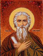 Икона из янтаря Апостол Андрей Первозванный