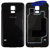 Задняя часть корпуса (крышка аккумулятора) для Samsung Galaxy S5 Neo G903, черная, оригинал