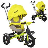 Велосипед детский трехколесный Turbo Trike М-3193 надувные колеса поворотное сиденье Турбо трайк