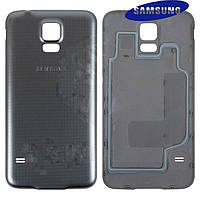 Задняя часть корпуса (крышка аккумулятора) для Samsung Galaxy S5 Neo G903, серебристая, оригинал