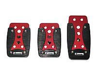 Накладки на педали XB-389 red/black