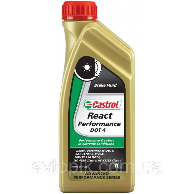 castrol Жидкость тормозная Castrol React Performance DOT 4 1л FM-EB-RPDOT4-12X1L