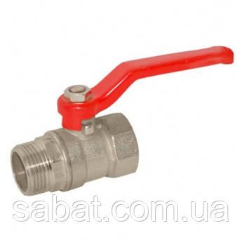 Кран шаровой газовый латунный 1½