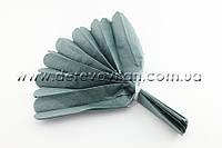 Помпон из тишью, серый, 35 см