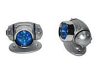 Подсветка-фонарь внешняя KL-26 2x7LED Blue кругл