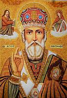 Икона из янтаря Николай Чудотворец №3