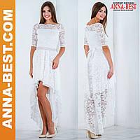 """Белое свадебное платье вечернее гипюровое """"Афродита"""""""