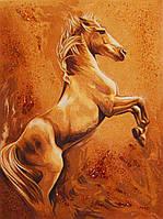 Картина из янтаря Жеребец №1