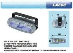 Дополнительные фары противотуманные DLAA 600 RY 2хH3-12V-55W/145*50mm