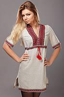 Женское вышитое платье красный орнамент, фото 1
