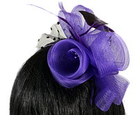 Обруч на голову с цветком из ленты