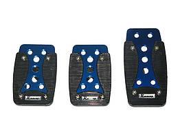 Тюнинг накладки на педали авто автомобиля универсальные XB-389 blue/black