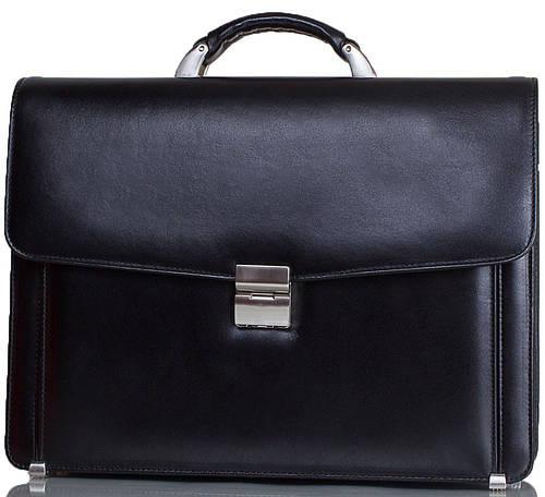 Классический мужской портфель из натуральной кожи DESISAN (ДЕСИСАН) SHI206-1-2FL черный