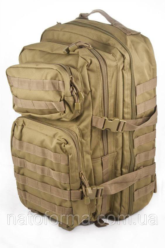 Рюкзак тактический, штурмовой, Assault pack LG, Miltec, coyote, 36л