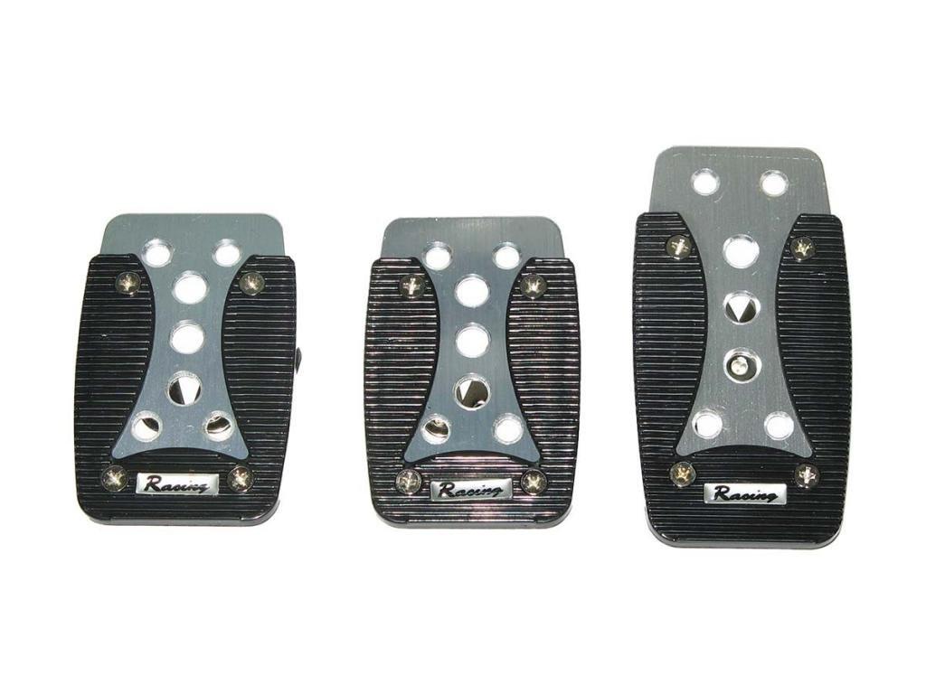 Тюнинг накладки на педали авто автомобиля универсальные XB-389 silver/black