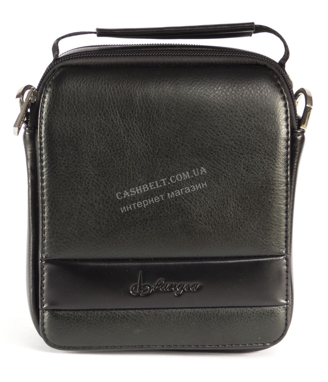 Зручна чоловіча стильна сумка Langsa art. 031 чорний