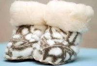 Детские пинетки из натуральной овечий шерсти
