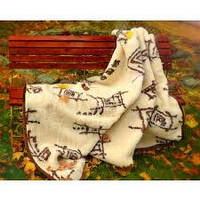 """Одеяло-плед из овечьей шерсти """"Eluna"""" (двуспальное)"""
