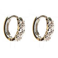 Xuping. Серьги круглые серебряного цвета со стразами