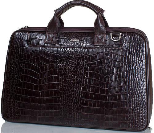 Стильный мужской портфель из натуральной кожи DESISAN (ДЕСИСАН) SHI7007-19-10KR черный