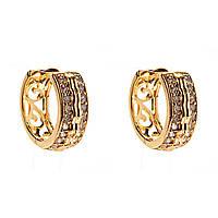 Xuping. Серьги круглые золотого цвета очень элегантные со вставками из страз