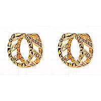 Xuping. Серьги круглые золотого цвета  со стразами модный фасон