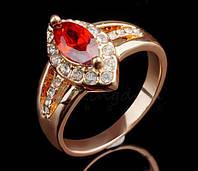 Кольцо Gorgeous Rhinestone покр золотом 18К, фото 1