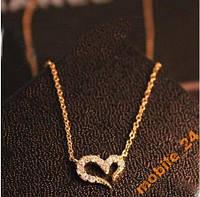 Подвеска сердце с камнями (цвет silver), фото 1
