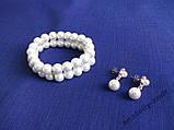 Набор Fasion Pearl браслет + серьги, фото 2