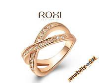 Кольцо с кристаллами Swarovski 18Кпокрытие золотом, фото 1