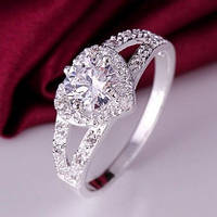 Кольцо Shiny Crystal Ring Серебро 925, фото 1