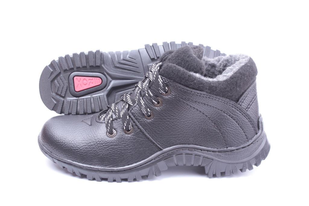 Мужские зимние ботинки. Эко-кожа. Зима 2017